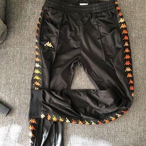 Kappa Black/Orange Track Pants